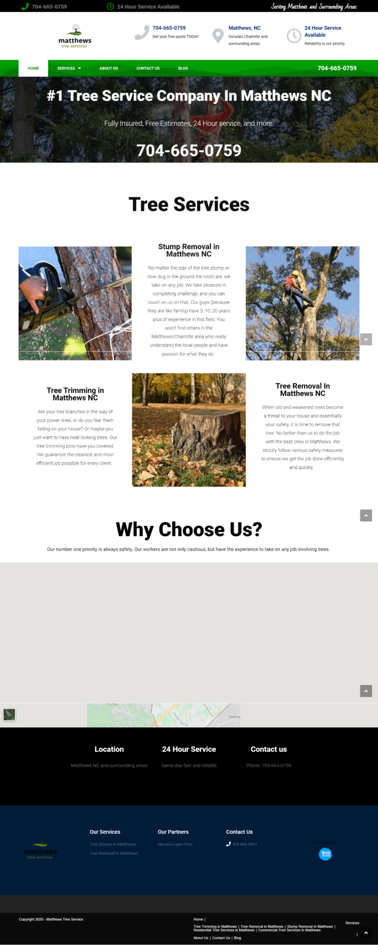Mathews Tree Service Website